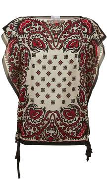 RED Valentino Print Short Sleeve Blouse