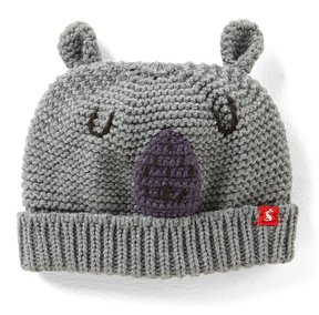 Joules Baby Boys Newborn-2T Bear Character Hat