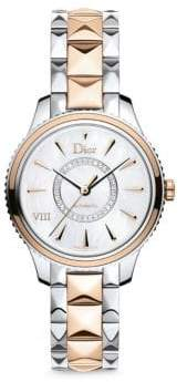 Christian Dior VIII Montaigne Diamond, 18K Rose Gold & Stainless Steel Automatic Bracelet Watch