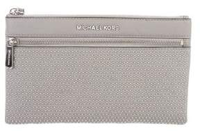 MICHAEL Michael Kors Embellished Leather Clutch