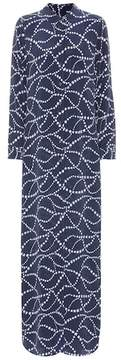 Equipment Star-printed silk shirt dress
