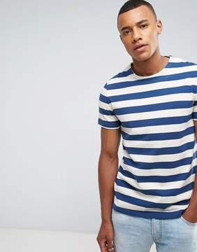 Celio Heavyweight Boxy Fit T-Shirt In Stripe