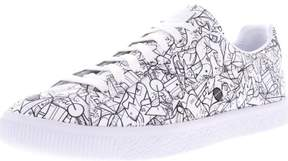 Puma Men's Clyde All Star Game White Low Top Leather Fashion Sneaker - 9M