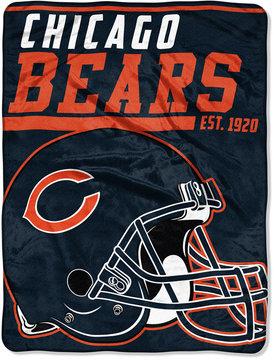 Northwest Company Chicago Bears Micro Raschel 46x60 40 Yard Dash Blanket