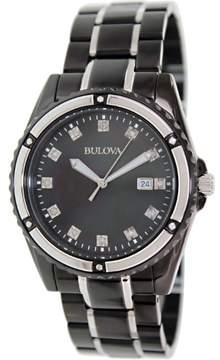 Bulova Men's 98D107 Diamond stainless-steel Watch, 42millimeters