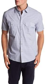 James Campbell Vera Plaid Woven Short Sleeve Shirt