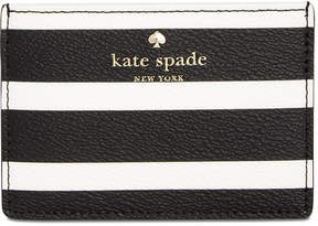 Kate Spade Hyde Lane Striped Card Holder - BLACK/CREAM - STYLE