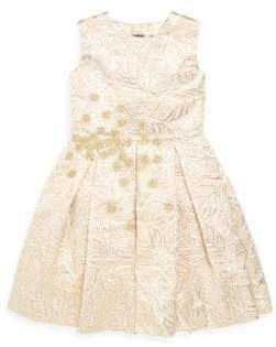 Oscar de la Renta Toddler's, Little Girl's& Girl's Jacquard A-Line Dress