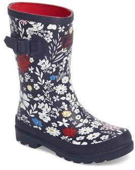 Joules Girl's Welly Printed Waterproof Rain Boot