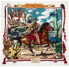 One Kings Lane Vintage Hermès Pony Express. Scarf by Oliver