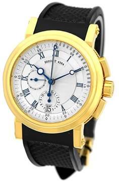 Breguet Marine Chronograph 18K Yellow Gold Strap Mens Watch