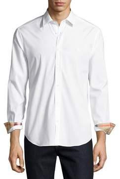 Burberry Cambridge Check-Detail Sport Shirt, White