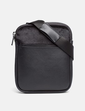 Calvin Klein Textured Leather Flat Crossover Bag