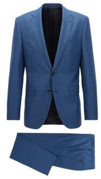 BOSS Hugo Wool Suit, Regular Fit Johnstons/Lenon 36R Open Blue