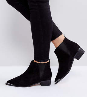 Asos ADMISSION Wide Fit Pointed Ankle Boots