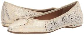 French Sole Anaconda Women's Dress Flat Shoes