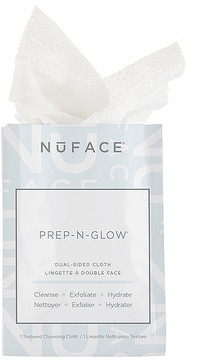NuFace Prep-n-Glow Dual Sided Cleansing Cloths.