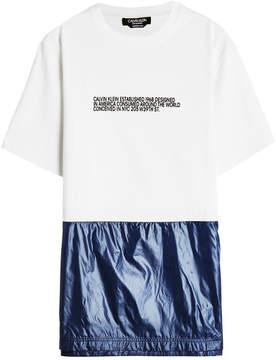 Calvin Klein Cotton T-Shirt with Fabric Hem