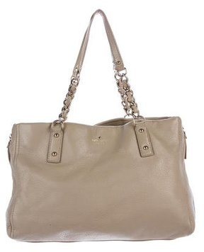 Kate Spade Pebbled Leather Tote - BROWN - STYLE