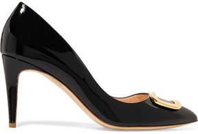 Rupert Sanderson Nada O Pebble Embellished Patent-leather Pumps - Black