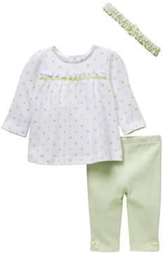 Little Me Multi Dot Tunic & Legging Set (Baby Girls)