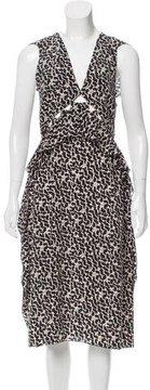 Bottega Veneta Printed Cutout Dress