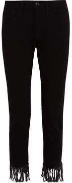 3x1 Wm3 Crop Fringe High-rise Straight-leg Jeans - Black