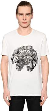 Just Cavalli Tiger Printed Cotton Jersey T-Shirt