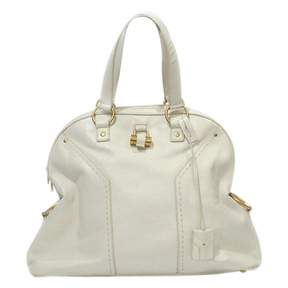 Saint Laurent Muse leather handbag - ECRU - STYLE