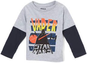 Star Wars Gray & Blue 'Vader' Long-Sleeve Tee - Toddler & Boys