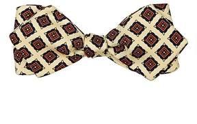 Drakes Drake's Men's Medallion-Print Silk Bow Tie