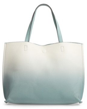 Street Level Reversible Faux Leather Tote - Ivory