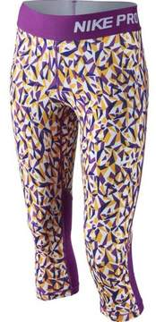 Nike Girls' Pro Hypercool Abstract-Print Capri Leggings