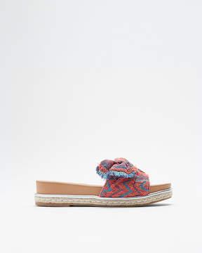 Express Multicolor Bow Espadrille Slide Sandal