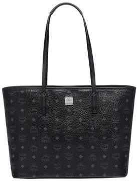 MCM Anya Top Zip Shopper Visetos Medium Black