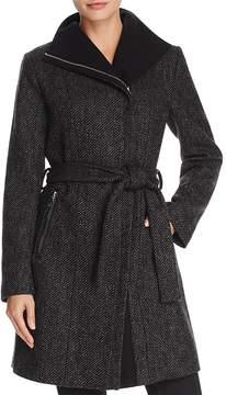 T Tahari Eva Asymmetric Coat