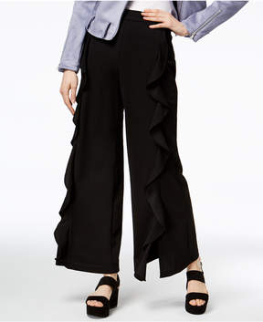Bar III Ruffled Wide-Leg Pants, Created for Macy's