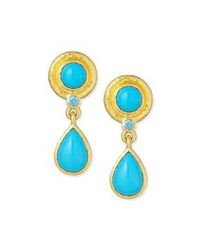 Elizabeth Locke 19K Turquoise Drop Earrings