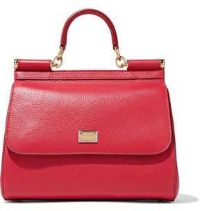 Dolce & Gabbana Sicily Pebbled-Leather Shoulder Bag
