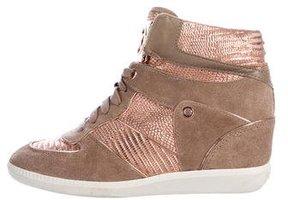 Michael Kors Metallic Wedge Sneakers