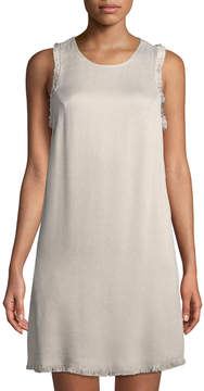 Astr Julia Fringe-Trimmed Tweed Dress
