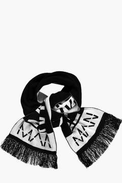 boohoo Black And White Oversize MAN Scarf