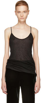 Ann Demeulemeester Black Ribbed Camisole