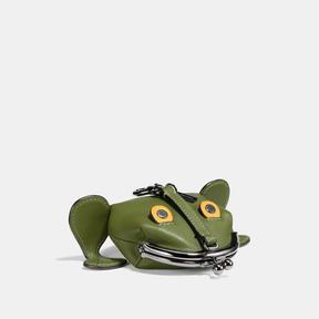 COACH Coach Froggy Coin Case - DARK GUNMETAL/UTILITY - STYLE