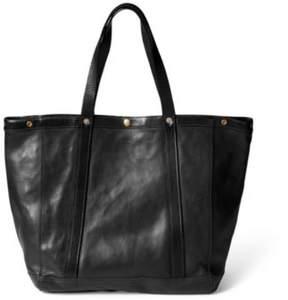 Ralph Lauren Leather Harris Tote Vintage Black One Size