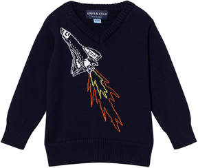 Andy & Evan Navy Spaceship Sweater