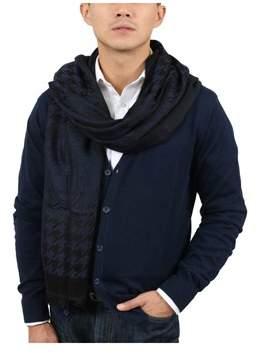 Versace It00637 Blu Navy Blue 100% Wool Mens Scarf.