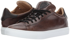 a. testoni Leather Sneaker Men's Lace up casual Shoes