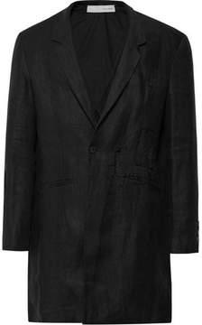 Isabel Benenato Distressed Linen Overcoat