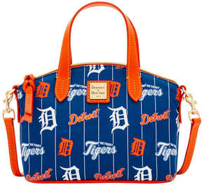 Dooney & Bourke Detroit Tigers Nylon Mini Crossbody Satchel - NAVY/ORANGE - STYLE